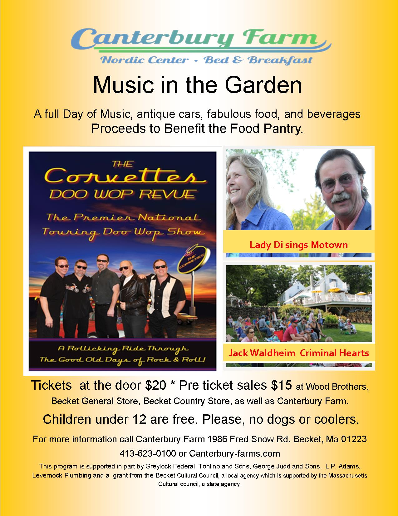 music in the Garden 2015 flyer best with jack Waldheim